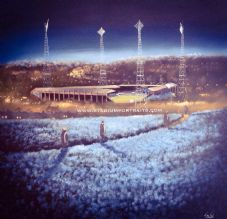 Leeds United - Those Diamond Lights - 20'' x 20'' approx poster print